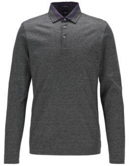 Slim-fit polo shirt in Italian moulin cotton