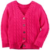 Carter's Toddler Girl V-Neck Textured Cardigan