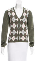 Burberry Wool Argyle Cardigan