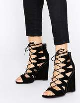 Asos HARLESDEN Lace Up Wedges