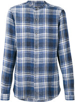 Z Zegna checked shirt - men - Linen/Flax - S