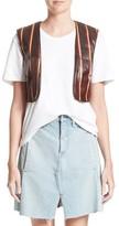 Simon Miller Women's Striped Genuine Eelskin Vest