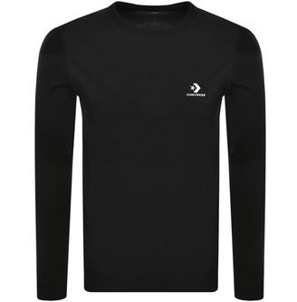 Converse Long Sleeved Logo T Shirt Black