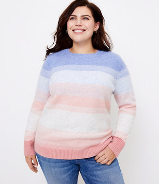 LOFT Plus Ombre Stripe Sweater