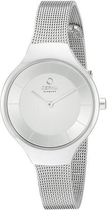 Obaku Women's V166LXCIMC Analog Display Analog Quartz Silver Watch