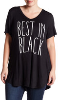 Hip Best In Black Tee (Plus Size)