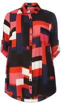 Dorothy Perkins DP Curve Fuschia Colour Block Shirt