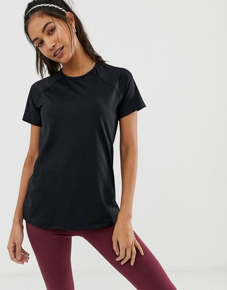 Asos 4505 4505 short sleeve top with mesh back detail
