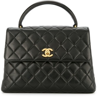 Chanel Pre-Owned 1996-1997 top handle quilted bag