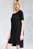 Silence & Noise Silence + Noise Ribbed Mini T-Shirt Dress
