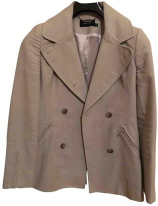 Karen Millen Grey Cotton Coat for Women