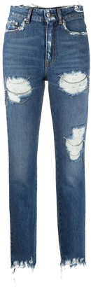 Chiara Ferragni Destroyed straight-leg jeans