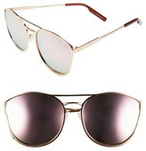 Quay Women's Cherry Bomb 60Mm Sunglasses - Gold/ Silver Mirror