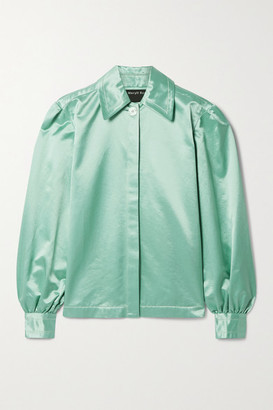 Meryll Rogge Cotton-blend Satin Shirt - Mint