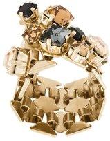 Lanvin crystal-embellished ring