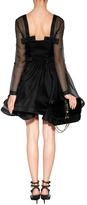 Valentino Silk Dress with Flounce Skirt