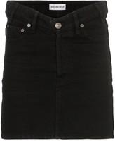 Balenciaga V-waist denim mini skirt