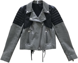 Faith Connexion Grey Leather Leather Jacket for Women