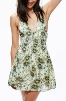 Free People Women's Floral Print Minidress