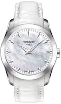 Tissot Women's Couturier Leather Strap Watch, 33Mm