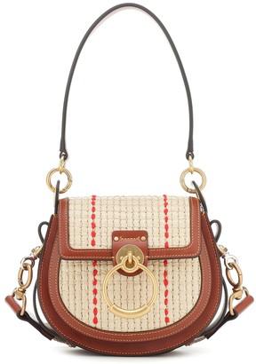 Chloé Tess Small raffia shoulder bag