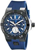 Vince Camuto The Master Unisex Quartz Watch with Blue Dial Analogue Display and Navy Silicone Strap VC/1010NVTI