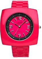 Eton Ladies Square Case Hot Pink Bangle Watch 2870-5
