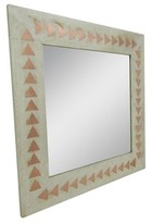 Threshold Square Wood and Copper Mirror