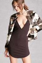 Forever 21 FOREVER 21+ Faux Fur Colorblock Jacket