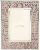 """Barneys New York Croc-Embossed 4"""" x 6"""" Picture Frame"""