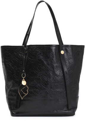 See by Chloe Andy Bisou Embossed Washed-leather Tote