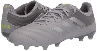 adidas Copa 20.3 FG (Grey Two F17/Silver Metallic/Solar Yellow) Men's Shoes