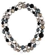 David Yurman Onyx & Hematine DY Elements Bead Strand Necklace