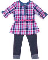 Little Lass 2-pc. Plaid Top and Jeggings Set - Preschool Girls 4-6x