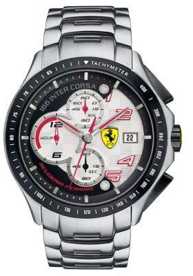 Ferrari Men's Race Day Stainless Steel Chronograph Watch