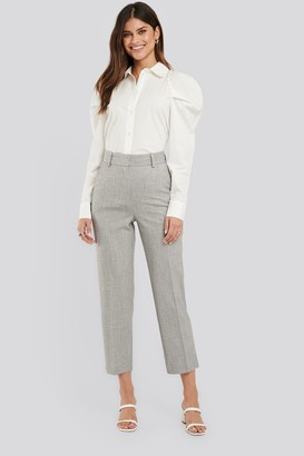 NA-KD Tailored Fitted Suit Pants Grey