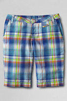 Classic Girls Plus Plaid Bermuda Shorts-Reef Blue Plaid
