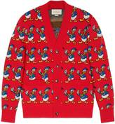 Gucci Donald Duck jacquard wool cardigan