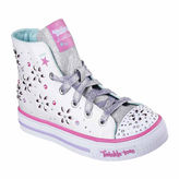 Skechers Twinkle Toes Shuffles Girls High Top Sneakers - Little/Big Kids