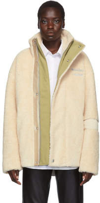 Acne Studios Off-White Orsino Teddy Jacket