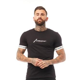 Iconico Couture Mens Cuffs T-Shirt Black