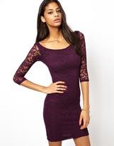 Asos Bardot Lace Mini Dress