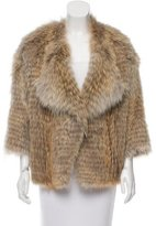 Vince Open Front Fur Jacket
