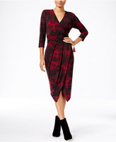 Rachel Roy Printed Faux-Wrap Dress