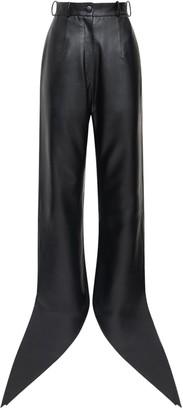 MATÉRIEL Faux Leather Pants W/ Self-Tie Cuffs