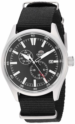 Orient Men's Stainless Steel Japanese Automatic Sport Watch with Leather Calfskin Strap Brown 21 (Model: RA-AK0405Y10A)