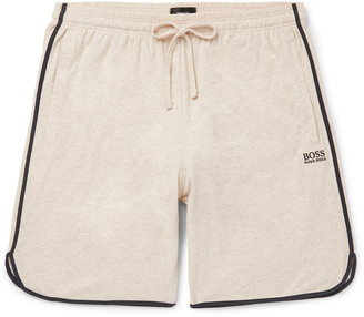 HUGO BOSS Piped Melange Stretch-Cotton Jersey Drawstring Shorts