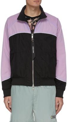 Daniel Patrick '7.3M' colourblock panelled bomber jacket
