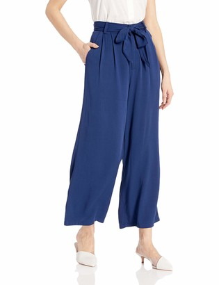 BB Dakota Womens shes Sophisticated Rayon Cropped Pant with tie Belt