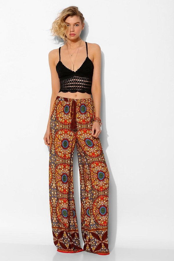 Urban Outfitters Staring At Stars Medallion Wide-Leg Pant
